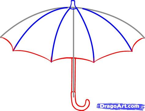 how to an how to draw an umbrella step by step stuff pop culture free drawing