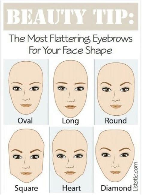 shapes of models faces top 10 best beauty secrets and tips of all time eyebrow