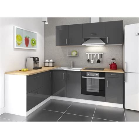 cuisines pas cher meuble de cuisine noir pas cher