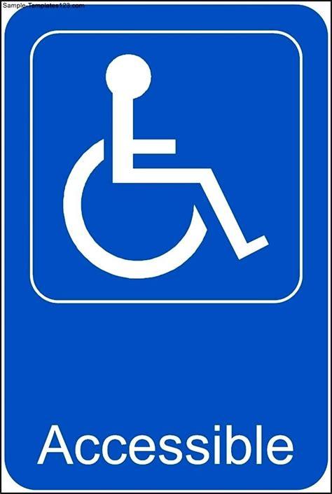 handicap template handicap accessible template sle templates sle