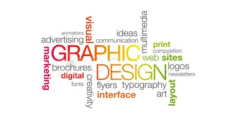 graphics design words graphic design hd 4k stock footage 12567868 pond5