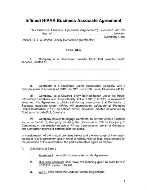 hipaa business associate agreement template new photos of business associate agreement hipaa