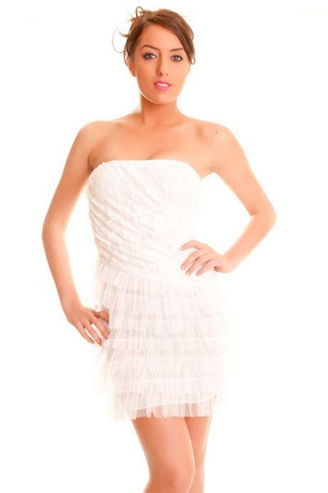 Robe Bustier Dentelle Blanche - robe bustier blanche dentelle