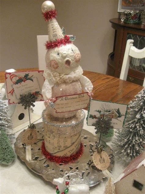 How To Make Paper Mache Snowman - my paper mache snowman