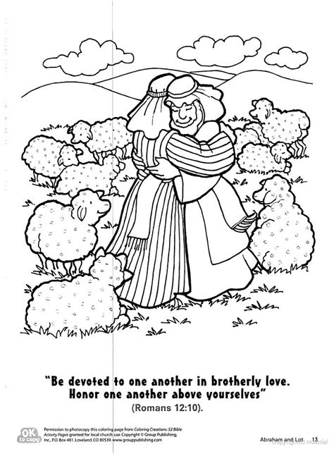 coloring page abraham and lot abraham lets lot choose land coloring page kid s church