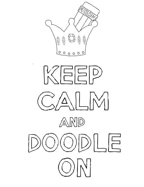 keep calm and carry on coloring pages keep calm and doodles ave