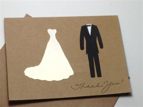 Handmade Wedding Thank You Cards - and groom thank you note card set handmade wedding