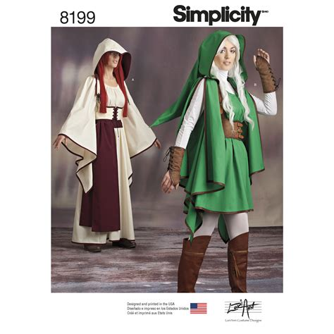 sewing pattern legend simplicity 8199 misses costumes