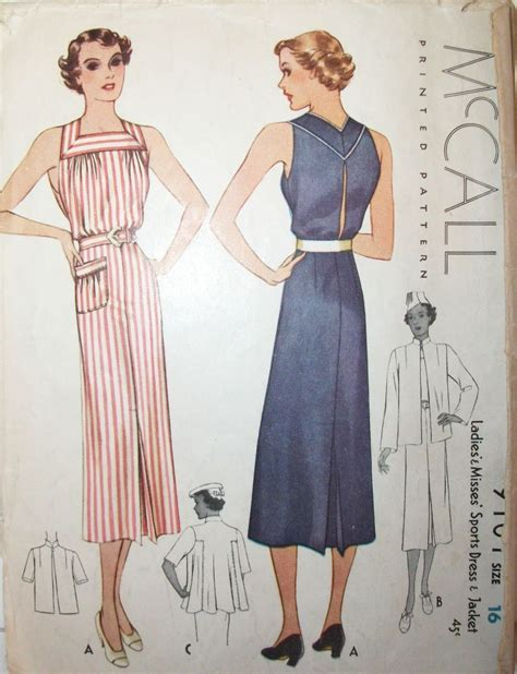 vintage swing dress pattern vintage 1930s dress swing jacket printed sewing pattern