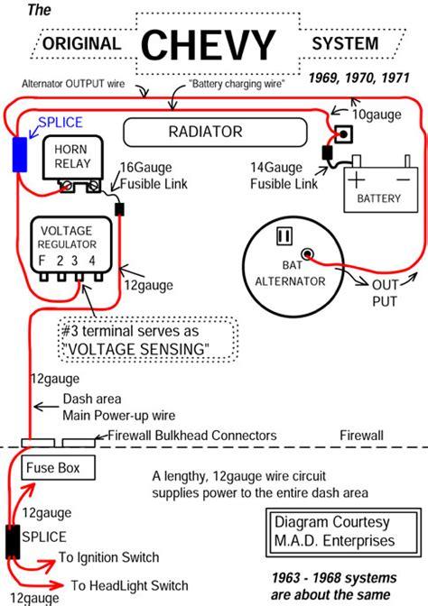 3 wire alternator wiring diagram chevy 3 automotive