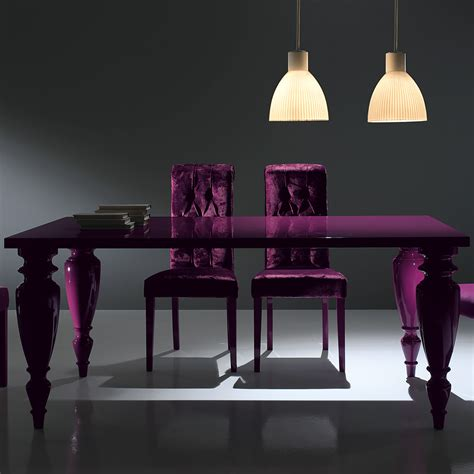 Purple Dining Room Set modern italian lacquered purple dining room set