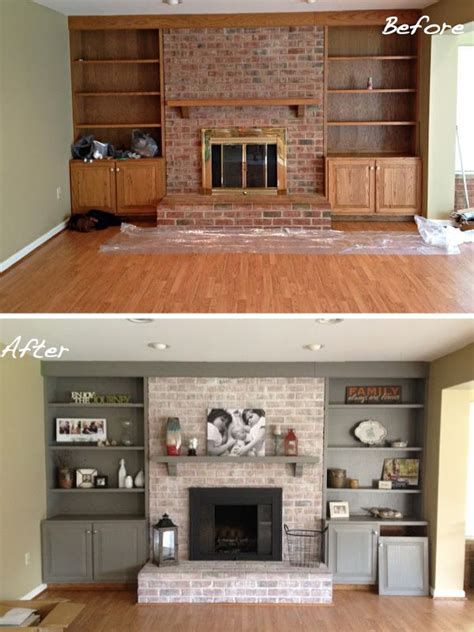 brick fireplace makeover ideas the coziest makeovers in town paint colors fireplaces