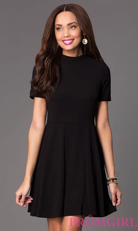 plain black dress  sleeves