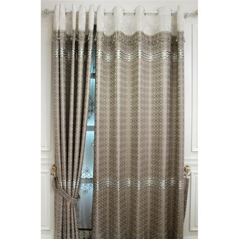 chenille jacquard curtains silver gray geometric jacquard chenille blackout bedroom