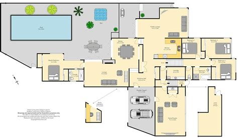large floor plans big house designs floor plan with large swimming pool and