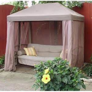 Outdoor Patio Gazebo Swing by Garden Winds Replacement Canopy Top And Side Mosquito