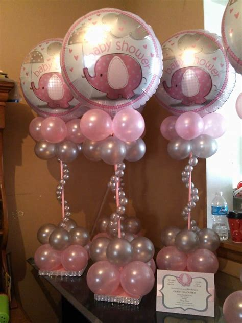 110 Best Baby Shower Balloon Decor Images On Pinterest Balloons Baby Shower Centerpieces