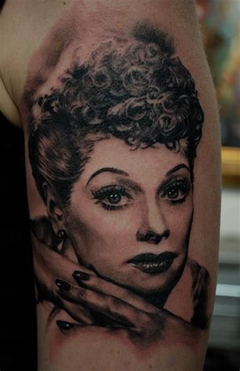 lucille ball tattoo lucille portrait by carlos torres probably the only