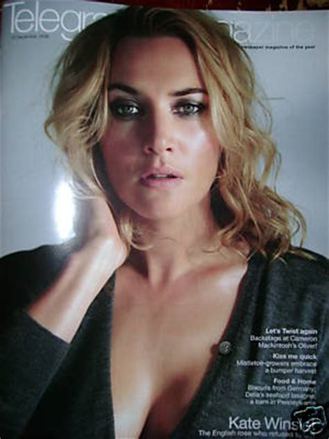 Kate In Magazine I Am A Bit Wacky by Telegraph Magazine Kate Winslet Cover 13 December 2008