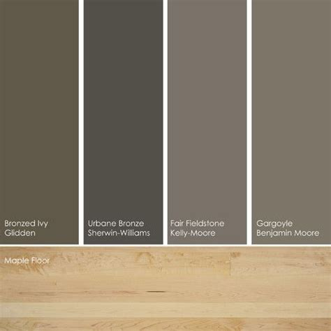 taupe palette by ott from left to right bronzed gln23 from glidden