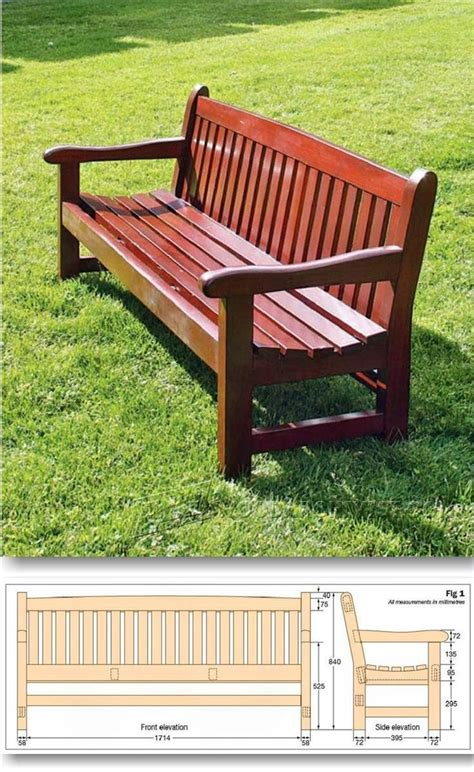 wooden park bench plans 25 best ideas about garden bench plans on pinterest