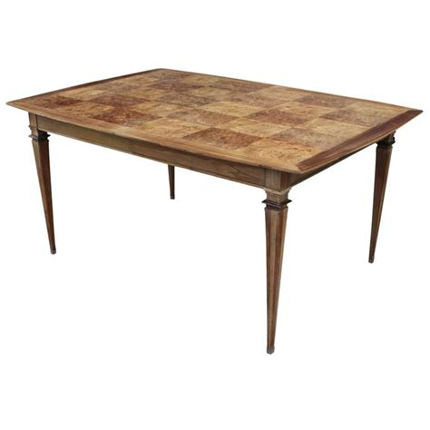 Parquetry Dining Table Modern Burl Parquetry Dining Table By Bernhard Rohne For