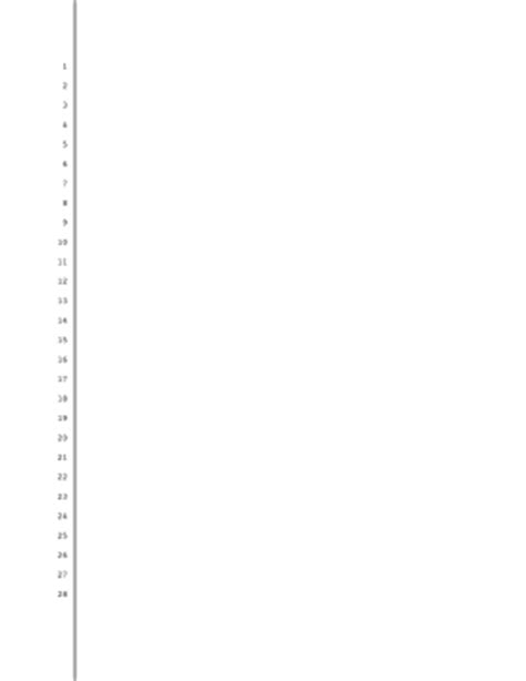 pleading paper template printable blank pleading paper 28 lines 1 inch left and