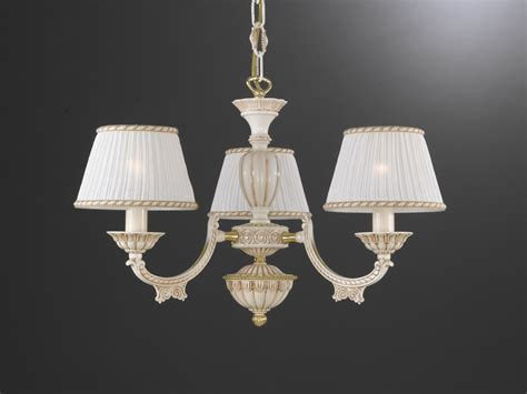 Chandeliers With L Shades 3 Lights White Brass Chandelier With L Shades Reccagni Store