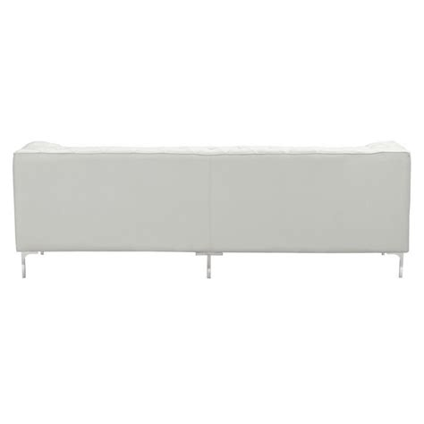 zuo modern providence sofa zuo providence modern faux leather sofa in white 900275