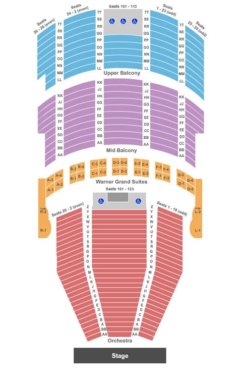 warner theater seating chart and the beast tickets seating chart warner theatre