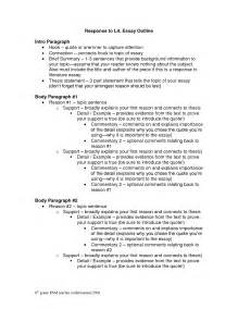 Literary Essay Template by Best Photos Of Exles Of Literary Structure Literary