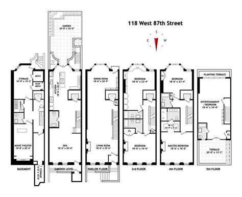 Brownstone Floor Plans New York City | new york city brownstone floor plans