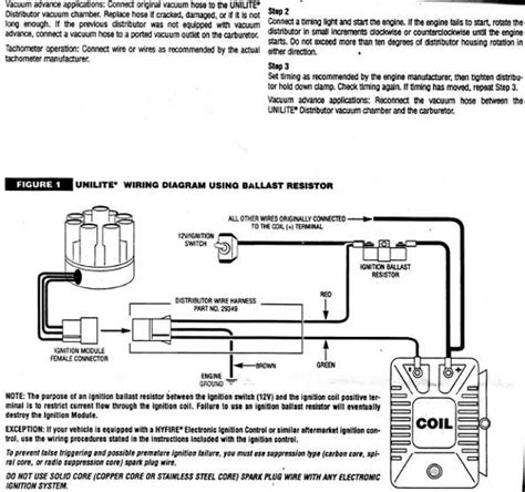mallory ignition wiring diagram chevy mallory hei distributor wiring diagram get free