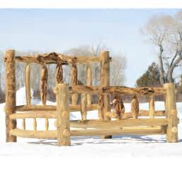 Rustic Log Bed Frame Make Log Furniture Any Way You Like It