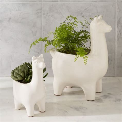 Ceramic Llama Planters West Elm West Elm Wall Planter