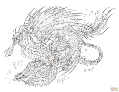 Sea Serpent Coloring Pages sea serpent coloring page free printable coloring pages