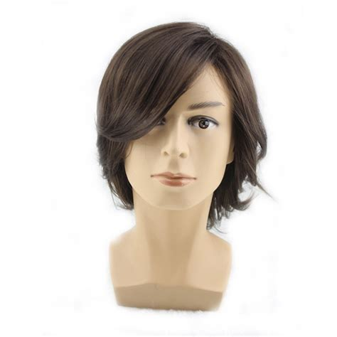 wigs for middle aged men amazon com men s short dark brown wigs short wigs middle