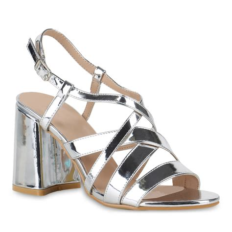 ab wann sind schuhe high heels damen metallic sandaletten blockabsatz high heels 815829