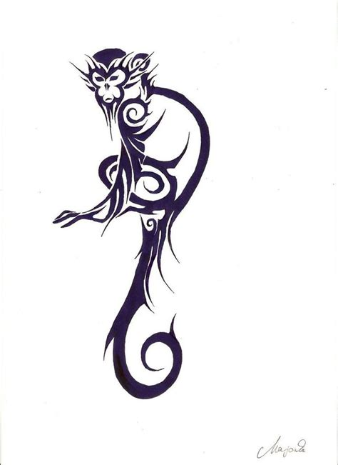 tribal monkey tattoos monkey by millavalentine19 on deviantart tatouages