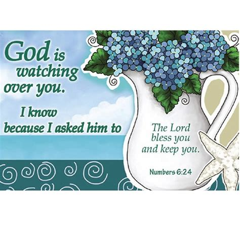 pkg 50 christian message cards pass it on variety pack pkg 25 god is watching over you blue flowers pass it