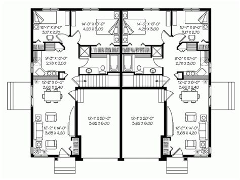 One Story Duplex House Plans by 19 Surprisingly Duplex Plans Single Story Building Plans