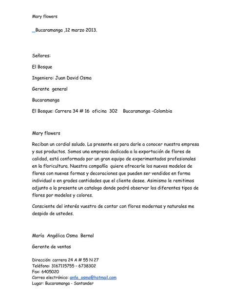 ejemplo de carta de presentacin para una empresa calam 233 o carta de presentaci 243 n de la empresa maria