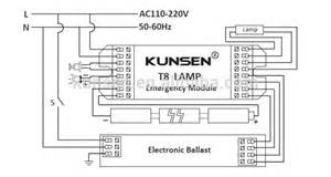 lighting fluorescent emergency ballast wiring fluorescent