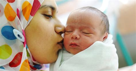 Spelling Is In Labor by Baby With Birthmark Spelling Allah Born In Refugee C