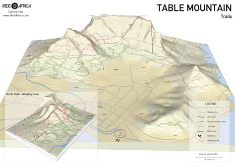 table mountain trail map table mountain mtb map iride africairide africa