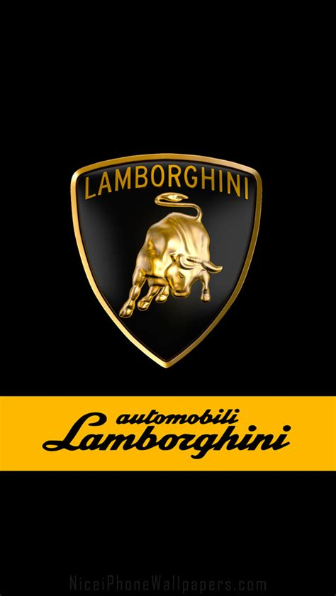 Lamborghini Logo Black Lamborghini Logo Iphone 5 Wallpaper And Background