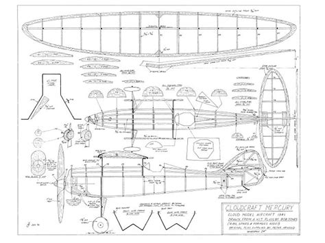 free rc plans cloudcraft mercury plans download cloud model aircraft