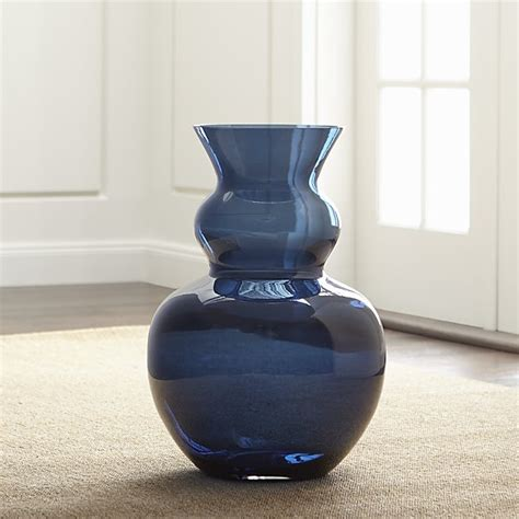 Glass Floor Vases by Nona Blue Glass Floor Vase Crate And Barrel