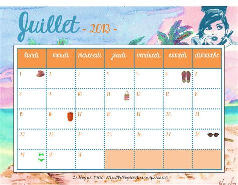 Calendrier Juillet Aout 2013 Calendrier De Juillet 2013 Le De M 233 Lie
