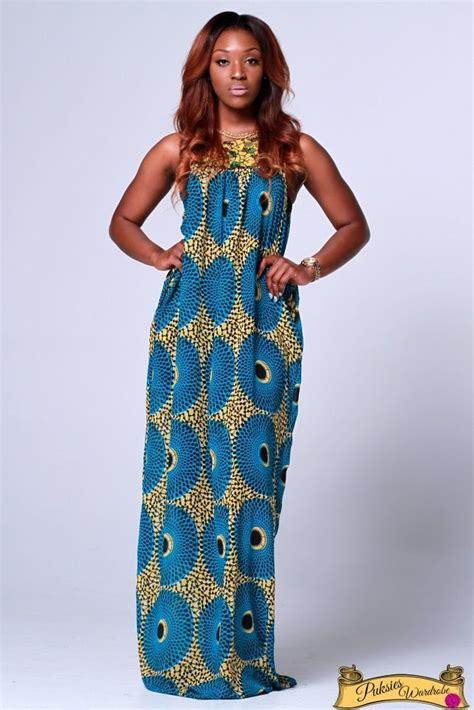 ankara flowing gown styles makinisy ankara chiffon maxi dress with pockets loose fit
